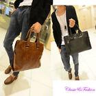 Fashion Men's Leather Business Handbag Laptop Briefcase Shoulder Messenger Bag