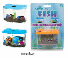 Kids Magic Growing Fish In Aquarium Toy Pet Tank Christmas Gift Stocking Filler