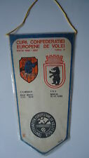 Wimpel Pennant Volleyball 89/90 Baia Mare - TSV Berlin # 13 x 23 cm