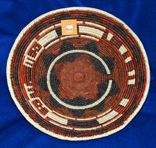 "Basket Finely Handwoven Collectible Decorative New Pakistan 15x3.5"" #69"