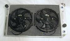 "ALUMINUM RACING RADIATOR 3 ROW CORE 1982-2002 CHEVROLET S10 S-10 V8 w 10"" FANS"