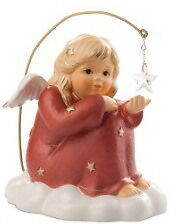 Hummel SITTING ANGEL WITH STAR RED new in box