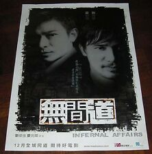 "Andy Lau Tak-Wah ""Infernal Affairs"" Tony Leung Chiu-Wai HK ORIGINAL 2002 Poster"