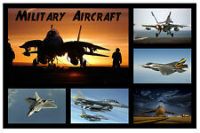 MILITARY AIRCRAFT - FUN SOUVENIR NOVELTY FRIDGE MAGNET - GIFT / XMAS - BRAND NEW