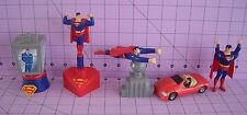 Superman Figurines Burger King 1997 DC Sealed Clark Kent Lois Lane Daily Planet