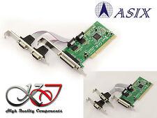 Carte Contrôleur PCI COM RS232 x2 + PARALLELE LPT - High + Low Profile