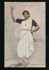 Ceylon Sri Lanka COLOMBO Nauch Dancing Girl used 1927 PPC