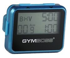 GYMBOSS INTERVAL TIMER AND STOPWATCH TEAL / BLUE METALLIC GLOSS FROM GYMBOSS HQ