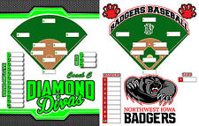 Personalized magnetic dry erase coaches lineup board for softball, or baseball