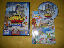 PC GAME-MONUMENT BUILDERS-NOTRE-DAME DE PARIS-Computer-Gioco-Games-ITALIANO-ITA