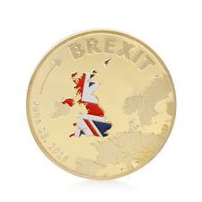 2016 Cook Islands Brexit Commemorative Coin Collection Gold Plated