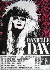"DANIELLE DAX TOUR POSTER / KONZERTPLAKAT ""INKY BLOATERS TOUR 1987"""