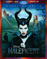 Maleficent (Blu-ray/DVD, 2014, 2-Disc Set, Includes Digital Copy) *New,Free S&H*