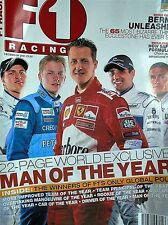 F1 racing magazine dec 2001  features lots to read about etc free p&p to uk