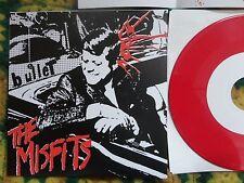 "Misfits- Bullet+3 7"" RED vinyl W/Insert NM+ RARE! (Danzig Samhain,Necros,Punk)"
