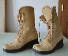 Women's Sketcher Fashion Snow Boots,  Sand (10)