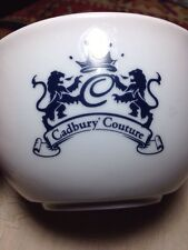 Cadbury*Couture divided large china cup/bowl Rare and Unusual England Fondue