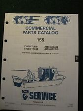 1991 OMC Johnson Evinrude Outboard Parts Catalog Manual 155 HP Commercial