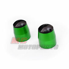 Green Kawasaki CNC Bar End Sliders ZX6R ZX10R ZX600 VERSYS 650 Z1000 SX NINJA
