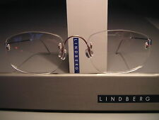 RIMLESS LINDBERG AIR TITANIUM FRAMES IN BRUSHED LILA-BLUE + FUCHSIA. SZ. 150