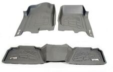 First + Second Row Floor Mats in Gray for 2007 - 2013 Jeep Wrangler Unlimited