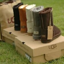 UGG Australia Womens_Classic Short Boots 5825 Black Chocolate Chestnut Grey