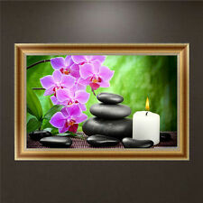DIY 5D Diamond Painting Flower Orchid Embroidery Cross Stitch Home Decor Craft