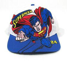 90S VTG SUPERMAN BIG LOGO RACING SNAPBACK HAT OG CAP NASCAR JEFF GORDON WARNER