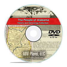 Alabama AL, People, Civil War Stories, History Genealogy, 94 Books, DVD CD V92