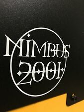 Harry Potter Nimbus 2001 White Vinyl Broom Sticker Magic