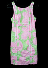 LILLY PULITZER Leopard and Lime Print Dress Cat Pink Green Ruched Size 00 Xxs Xs
