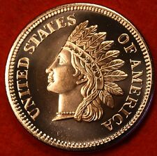 INDIAN PENNY GSM DESIGN .999% COPPER BULLION ROUND 1 AVDP OZ W/FREE AIR-TITE