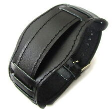 18mm BLACK MILITARY Vintage USSR CCCP Style Soviet Russian Leather Watch Band