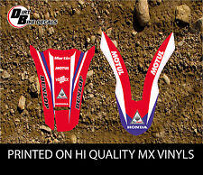 HONDA CRF 250X 2004-12 HRC STYLE ENDURO FENDER DECALS STICKERS GRAPHICS