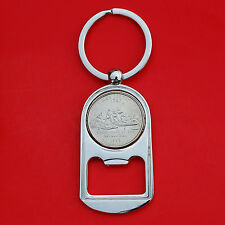 US 1999 New Jersey State Quarter BU Unc Coin Key Chain Ring Bottle Opener NEW
