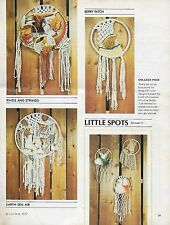 Vtg Macrame Hippie Dream Catcher Patterns in Fit to Be Tied Instruction Book