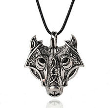 Jewelry Animal Necklace Head NEW Vikings Pendant Necklace Original Norse Wolf
