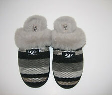 Women's UGG AUSTRALIA, Size 8, Sheepskin Slippers, Black, Silver, Grey UGG