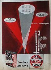 PUBLICITE MAZDA PILES CIPEL LUMIERE BLANCHE PUB DE 1962 FRENCH AD ADVERT