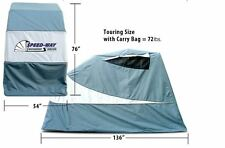 SPEED-WAY Large Gray Touring Harley/Metric Motorcycle Cover Retractable Shelter