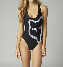 Fox Racing Womens Moto-X Maillot One Piece Swimsuit Black Size L