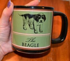 Green & Black The Beagle Dog Coffee Mug Russ Berrie & Co Fun Facts On Back