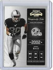JERRY RICE 2002 PLAYOFF CONTENDERS CHAMPIONSHIP TICKET #80/250 -jersey#