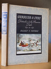 CURRIER & IVES Printmakers to the American People HARRY T. PETERS 1942 Hardcover