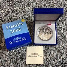 manueduc  1,5 € FRANCIA  2006 EUROPA SCHUMAN PLATA PROOF ESTUCHE NUEVO