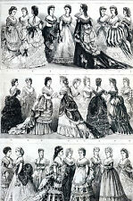 NYC Academy Music Fashion Show Charity Children's Hospital 1871 Art Print Matted