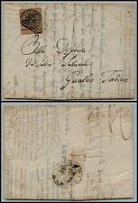 PONTIFICIO - 3 bai(4) BDF - Lettera Ancona- Gualdo Tadino 9.3.1857
