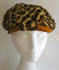 Fabulous leopard print furry vintage hat