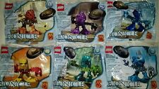 ALL 6 LEGO BIONICLE Matoran 2001 MCDONALDS COMPLETE Set of 6 HAPPY MEAL TOYS.NEW
