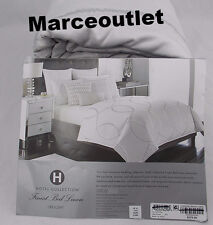 Hotel Collection Finest Bed Linen Crescent FULL / QUEEN Embroidered Duvet Silver